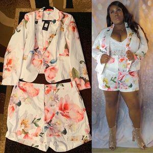 Fashion Nova Grow and Flourish Blazer Set